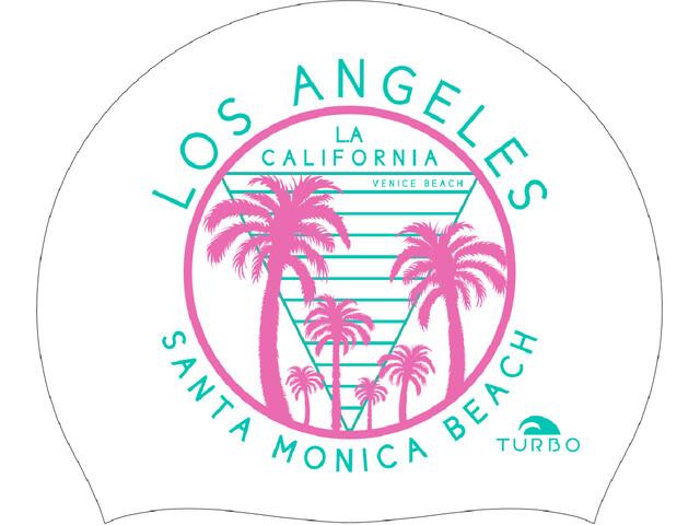 Turbo Santa Monica Beach Gorro de natación, white